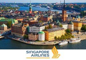 Из Москвы в Стокгольм от 15000 рублей! Специальное предложение от авиакомпании Singapore Airlines.