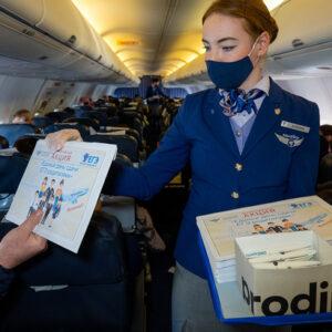 Пассажиры авиакомпании NordStar написали ЕГЭ во время полета